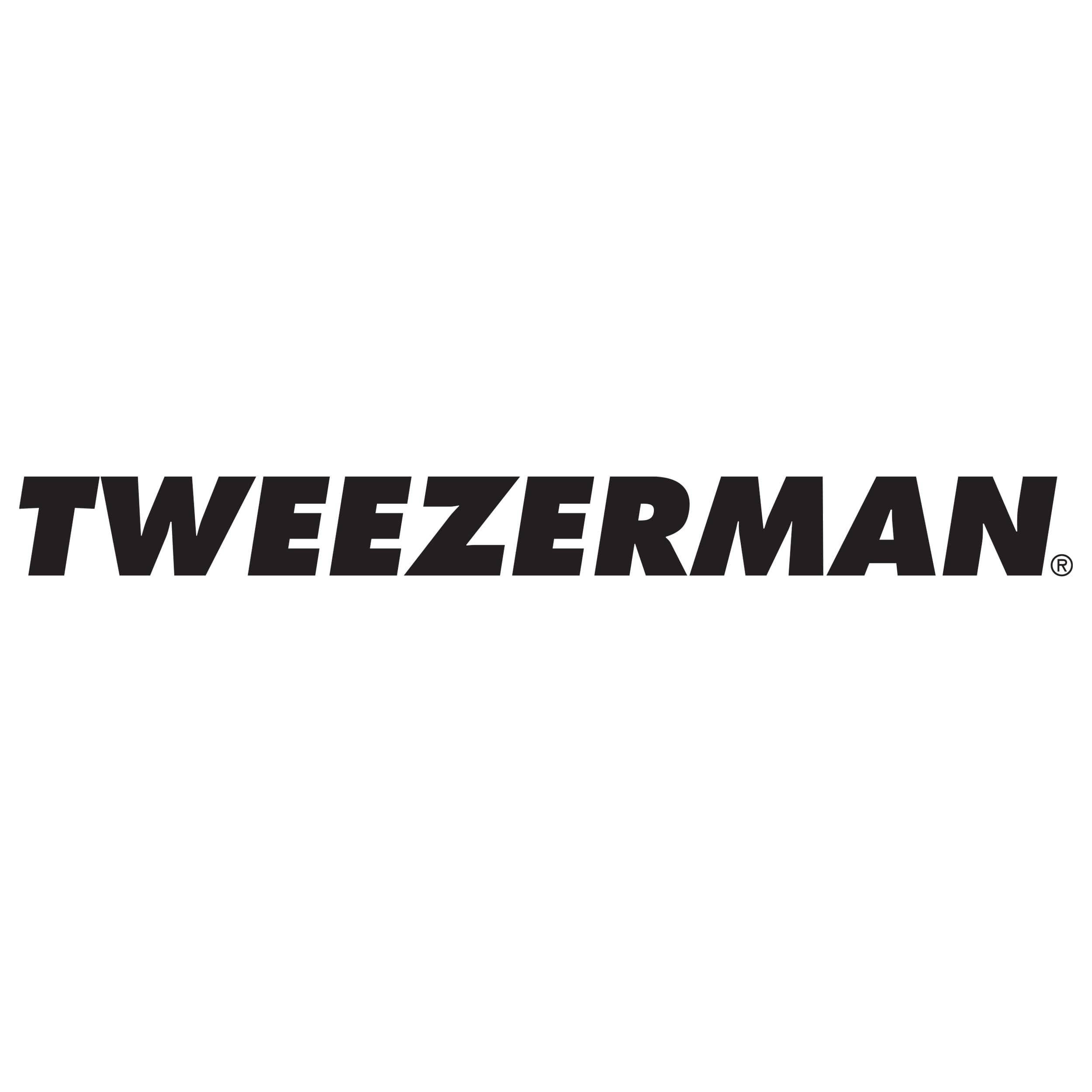 Product image of the Midnight Cheers Mini Slant Tweezer and silver hollygraphic case.