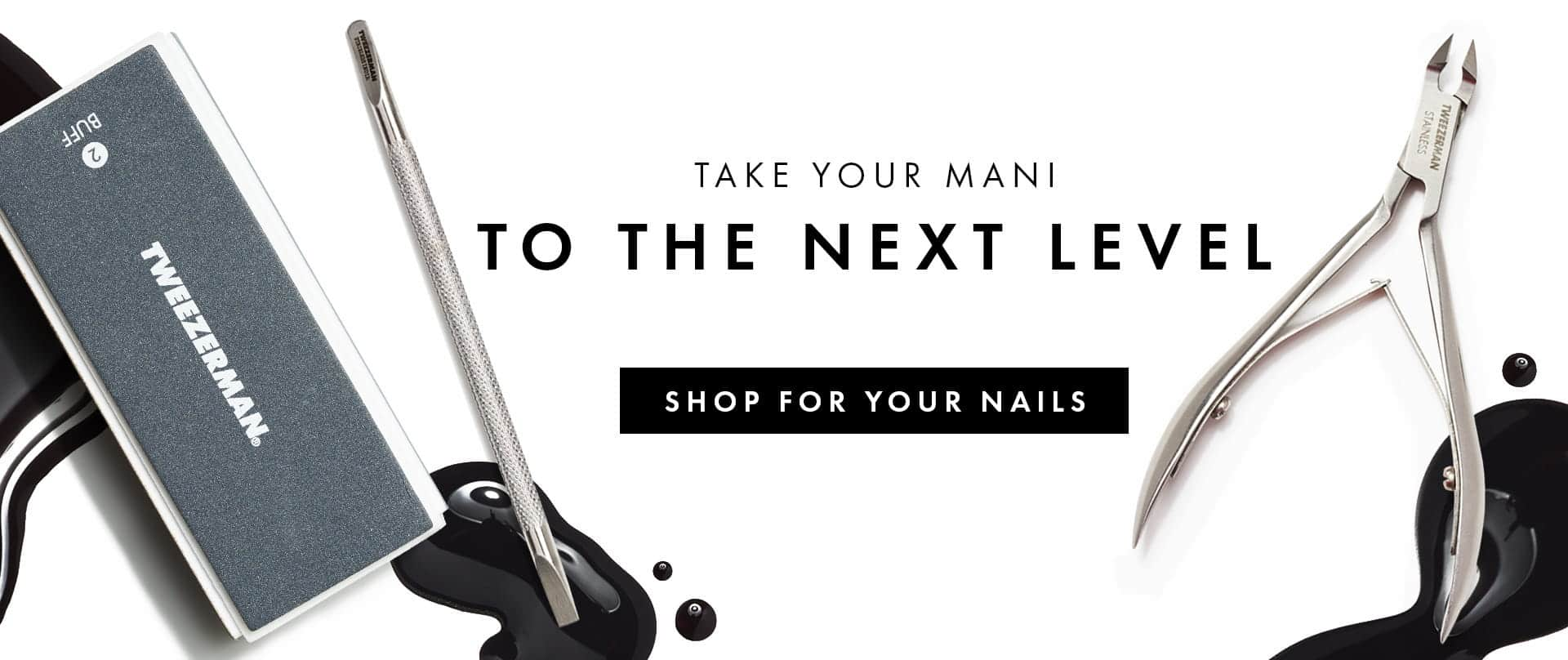 Tweezerman's high-quality, professional manicure tools including the Smooth Nail Buffer Blocks, Cuticle Pushy and Rockhard Cuticle Nipper